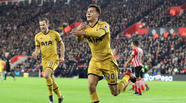 Dele Alli scored twice for Spurs in their win at Southampton