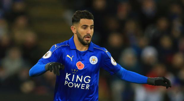 Riyad Mahrez started Monday's 2-0 defeat to Everton on the Leicester bench.