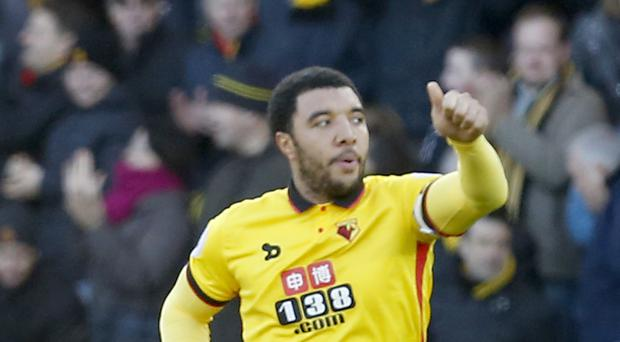 Watford's Troy Deeney scored his 100th goal for the club on Boxing Day
