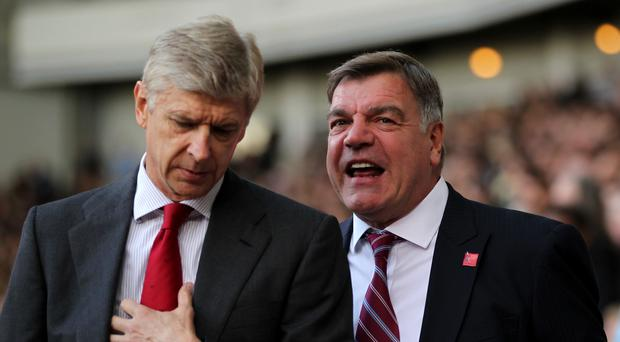 Arsene Wenger and Sam Allardyce, rright, go head to head on New Year's Day