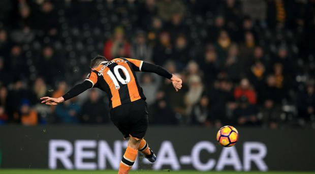 Hull's Robert Snodgrass caught the eye against Everton - notably with this free-kick which gave his side the lead for the second time.