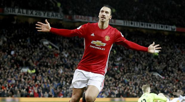 Zlatan Ibrahimovic has celebrated 17 goals for Manchester United