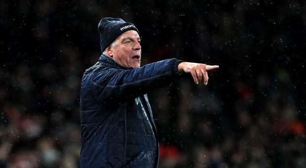 Sam Allardyce is targeting his first victory as Crystal Palace manager