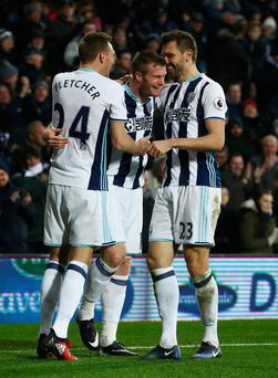 To the fore: Chris Brunt is hailed by Darren Fletcher and fellow Northern Ireland intenational Gareth McAuley