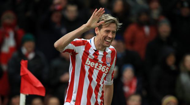 Peter Crouch scored for the second game running