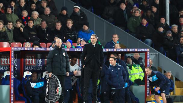Paul Clement was on the touchline as Swansea won at Crystal Palace