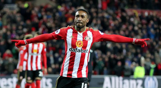 Sunderland's Jermain Defoe is reported to be keen in a return to West Ham