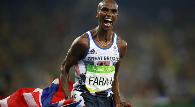 Sir Mo Farah was training with Arsenal on Thursday