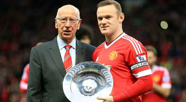 Wayne Rooney has broken Sir Bobby Charlton's goalscoring records for England and Manchester United