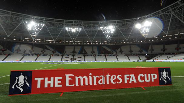 The FA Cup branding will not be needed again this season at the London Stadium