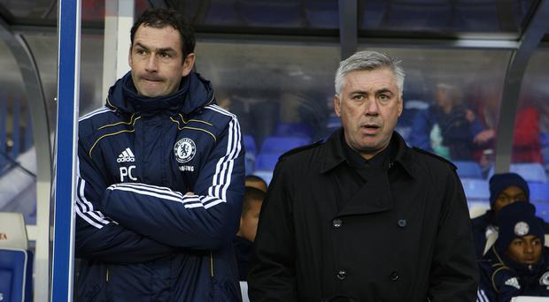 Carlo Ancelotti, right, has backed Paul Clement to succeed at Swansea