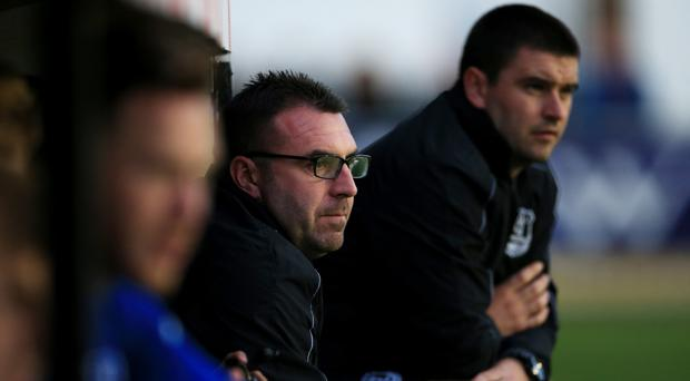 Everton Under-23s manager David Unsworth (centre) can see Tom Davies, Mason Holgate and Dominic Calvert-Lewin staying in the first-team mix.