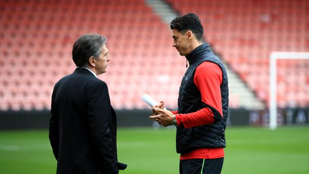 Southampton's manager Claude Puel (left) has decided not to pick defender Jose Fonte (right) while the player sorts out his future