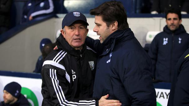Tottenham boss Mauricio Pochettino, right, is yet to beat West Brom counterpart Tony Pulis at White Hart Lane.