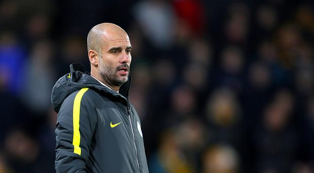 Gabriel Jesus is not yet available to Manchester City boss Pep Guardiola, pictured
