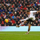 Pick it out: Wayne Rooney scores for Manchester United against Liverpool at Anfield 12 months ago