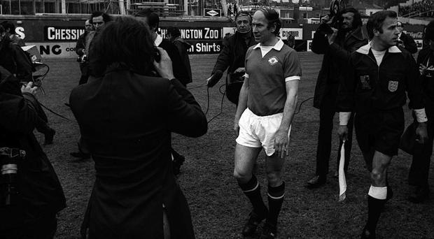 Sir Bobby Charlton's final Manchester United match was not at Chelsea but days later in Italy