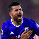 Unsettled: Diego Costa isn't a fan of life in London