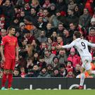 Fernando Llorente was instrumental in Swansea's win at Anfield
