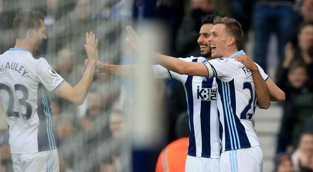 Darren Fletcher, right, was the key man for West Brom