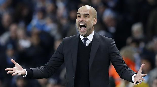 Manchester City manager Pep Guardiola made his frustration known on the touchline