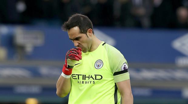 Claudio Bravo kept his place despite conceding four last weekend