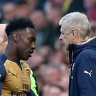 Arsenal forward Danny Welbeck (left) has been praised by boss Arsene Wenger after returning from injury.