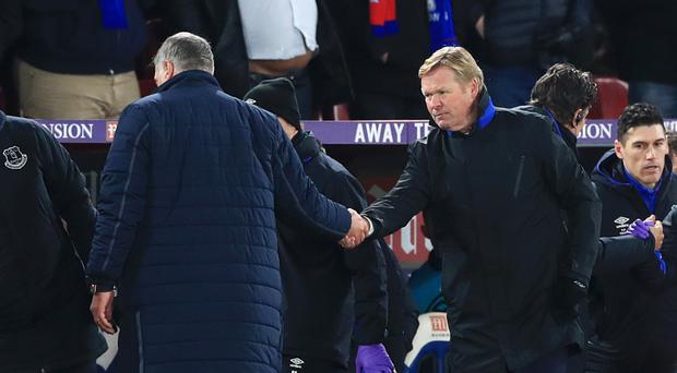 Ronald Koeman (right) was impressed with Everton's attitude at Crystal Palace