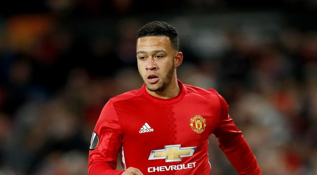 Memphis Depay, pictured, made only one start for Manchester United under Jose Mourinho