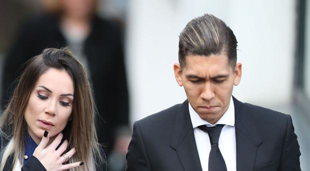 Roberto Firmino has been fined £20,000 and banned from driving for a year