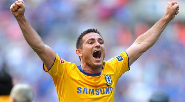 Chelsea's Frank Lampard scored the winning goal in the 2009 FA Cup final