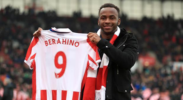 Stoke manager Mark Hughes sees no reason not to involve new signing Saido Berahino against his old club at West Brom on Saturday