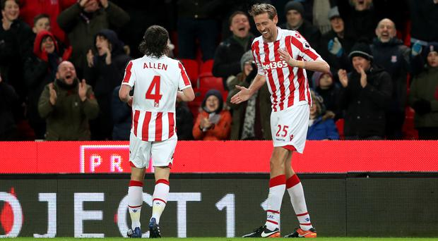 West Brom manager Tony Pulis signed Peter Crouch, right, for Stoke in 2011