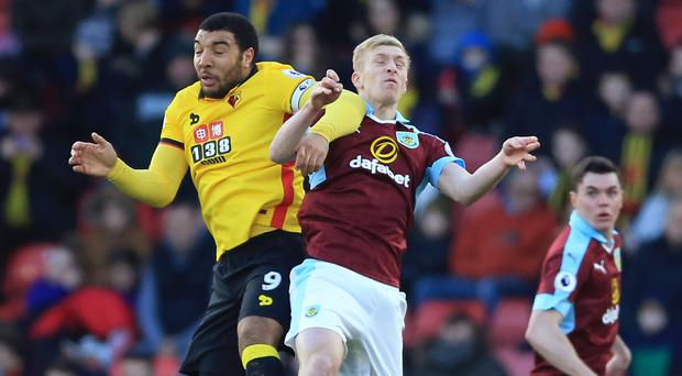 Troy Deeney, left, put Watford ahead