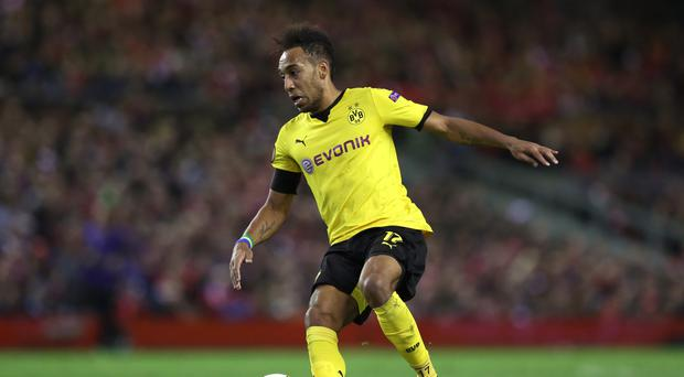 Borussia Dortmund's Pierre-Emerick Aubameyang is reportedly a target for Liverpool