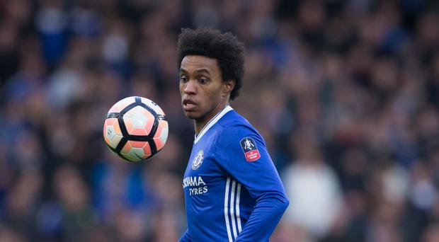 Jose Mourinho will try and take Willian to Manchester United in the summer
