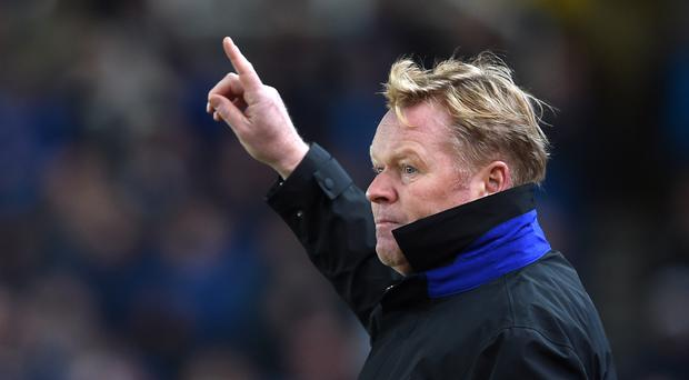 Everton manager Ronald Koeman has not ruled out a late run for a top-four place