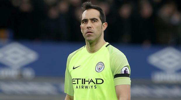 Under-fire Manchester City goalkeeper Claudio Bravo, pictured, is still highly regarded by Pep Guardiola