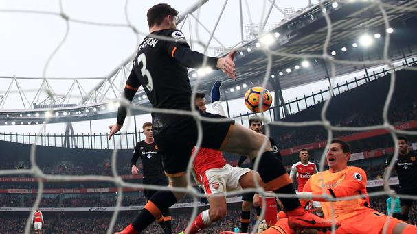 Alexis Sanchez's contentious opener helped Arsenal to victory