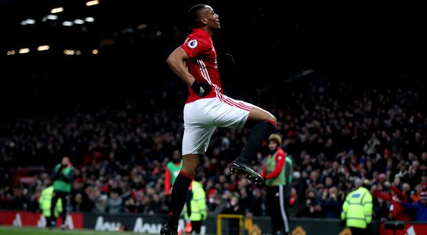 Manchester United's Anthony Martial celebrates his goal