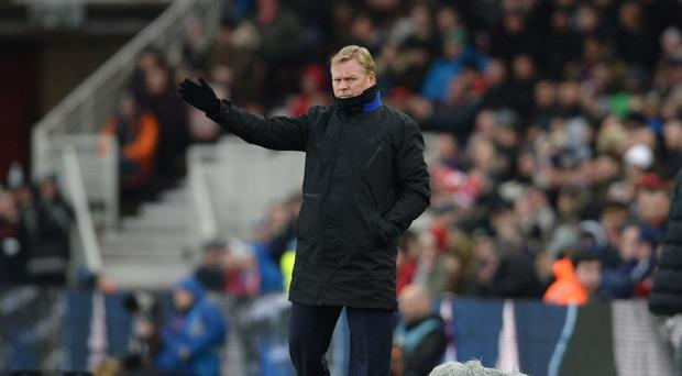 Everton manager Ronald Koeman saw his side draw at Middlesbrough Photo: PA