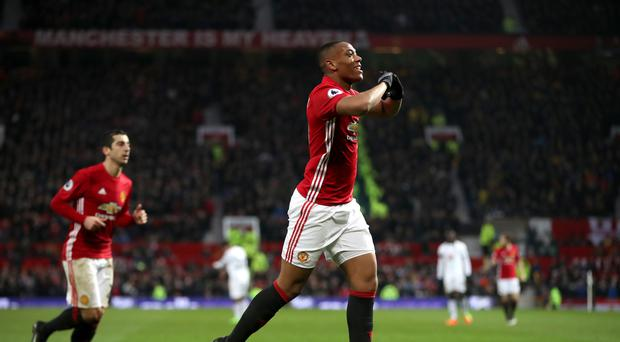 Jose Mourinho was keen to boost the confidence of Anthony Martial, pictured