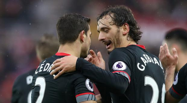 Southampton's Manolo Gabbiadini celebrates his first goal at Sunderland