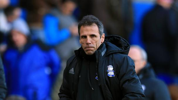 Birmingham manager Gianfranco Zola has given his support to his old boss Claudio Ranieri