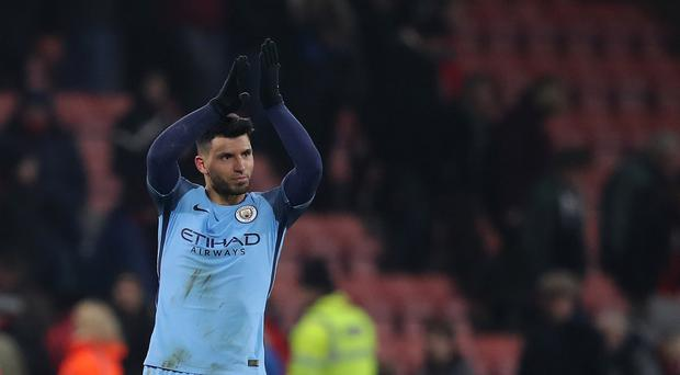 Sergio Aguero made an impact after replacing the injured Gabriel Jesus