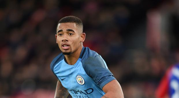 Manchester City's Gabriel Jesus faces a lay-off with a fractured metatarsal
