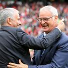 Manchester United manager Jose Mourinho has paid tribute to Claudio Ranieri after the Italian's dismissal by Leicester