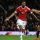 Marcus Rashford scored twice on his Manchester United debut a year ago