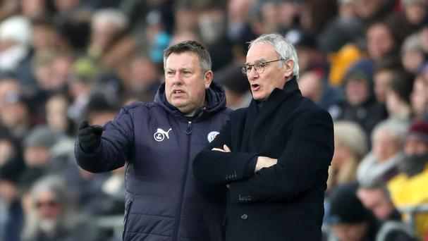 Leicester caretaker manager Craig Shakespeare (left) with former boss Claudio Ranieri.