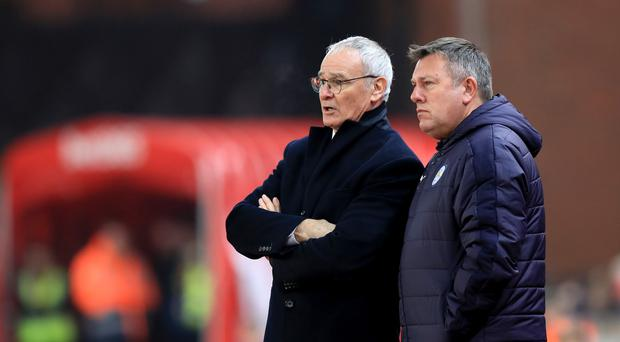 Leicester caretaker manager Craig Shakespeare, right, with former boss Claudio Ranieri.